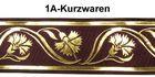 10m Mittelalter Borte Webband 35mm breit Farbe: Braun-Gold