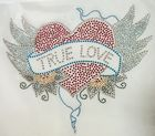 Bügelbild Applikation Herz True Love 25 x 18 cm