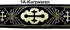 10m Kreuz-Borte Webband 70mm breit Farbe: Schwarz-Gold