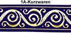 10m Jacquard Borte Webband 33mm breit Farbe: Dunkelblau-Gold