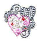 1 Sticker Love Girl zum Aufbügeln 6,5 x 6,5cm Farbe: Weiss