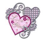 1 Sticker Love Girl zum Aufbügeln 6,5 x 6,5cm Farbe: Rosa