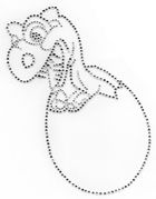 Bügelbild Dino 17 x 22 cm AB1-55