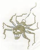 Bügelbild Strass Skull-Spinne 16,5x22cm Farbe: Hellgrün