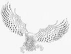 Applikation Bügelbild Strass Adler 29 x 21cm Farbe: Silber