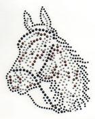 Applikation Bügelmotiv Strass Pferd 19 x 24 cm