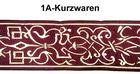10m Elizabethan Borte Webband 50mm breit Farbe: Bordeaux-Gold