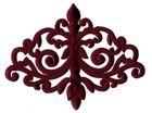 Applikation Patch Tribal 15,7 x 12cm Farbe: Bordeaux