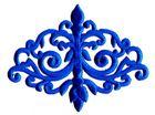 Applikation Patch Tribal 15,7 x 12cm Farbe: Blau