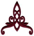 Applikation Patch Tribal 10 x 11cm Farbe: Bordeaux
