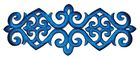 Applikation Patch Tribal 20 x 8cm Farbe: Blau