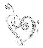 Applikation Bügelmotiv Herz Farbe: Crystal 8 x 10cm