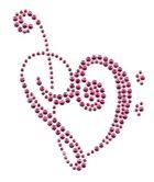 Applikation Bügelmotiv Herz Farbe: Dark Pink 8 x 10cm