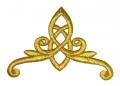 1 Stück Applikation Tribal 11 x 8cm Farbe: Lurex-Gold