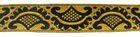 10m Mittelalter Borte Webband 20mm breit Farbe: Gold-Schwarz