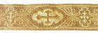 10m Kreuz-Borte Webband 35mm breit Farbe: Lurex-Gold