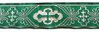 10m Kreuz-Borte Webband 35mm breit Farbe: Grün-Silber
