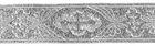 10m Kreuz-Borte Webband 35mm breit Farbe: Lurex-Silber