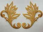 1 Paar hist. Applikationen höhere Qualität Farbe: Lurex-Gold
