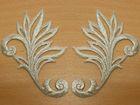 1 Paar historische Applikationen höhere Qualität A24 Farbe: Lurex-Silber