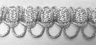 25m Silberborte Schlaufenborte 13mm Farbe: Lurex-Silber