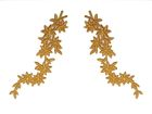 1 Paar historische Applikationen A19 Farbe: Lurex-Gold