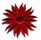 Margeriten-Applikationen Durchmesser 5cm AA106-02 Bordeaux
