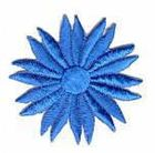 Margeriten-Applikationen Durchmesser 5cm AA106-04 Hellblau