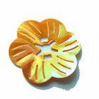 Pailletten-Blüten Durchmesser 27mm AA261-1 Farbe: Orange
