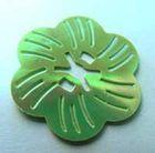 Pailletten-Blüten Durchmesser 27mm AA261-2 Farbe: Laubgrün