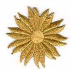 Margeriten-Applikationen Durchmesser 5cm AA106-06 Farbe: Lurex-Gold
