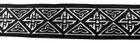 10m Mittelalter Borte Webband 35mm breit Farbe: Schwarz-Silber