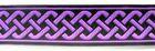 10m keltischer Knoten 35mm breit Farbe: Lila-Schwarz