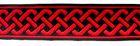 10m keltischer Knoten 35mm breit Farbe: Rot-Schwarz