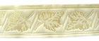 10m Mittelalter Borte Webband 35mm breit Farbe: Creme