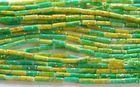 45 cm lang , Perlen 7 mm lang und 2 mm breit , ca.60 ZU