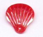 40 Stück Muscheln groß Farbe: rot