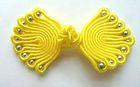 Posamentenverschlüsse mit Perlen AA300-7 Farbe: Gelb