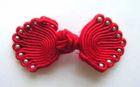 Posamentenverschlüsse mit Perlen AA300-8 Farbe: Rot