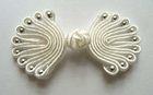 Posamentenverschlüsse mit Perlen Farbe: Weiss-Silber