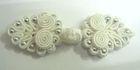 Posamentenverschlüsse mit Perlen AA330-2 Farbe: Weiss
