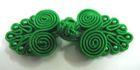 Posamentenverschlüsse mit Perlen AA331-10 Farbe: Grün