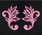 1 Paar historische Applikationen AF40-6 Farbe: Rosa