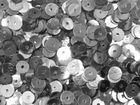12 Gramm Pailletten 6mm uni plan AA365-2 Farbe: Silber