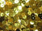 12 Gramm Pailletten 6mm uni plan AA365-8 Farbe: Laubgrün
