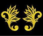 1 Paar historische Applikationen AF40-7 Farbe: Gelb