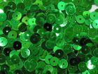 12 Gramm Pailletten 6mm uni plan AA365-10 Farbe: Grün