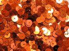 12 Gramm Pailletten 6mm uni plan AA365-17 Farbe: Orange
