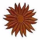 Margeriten-Applikationen Durchmesser 5cm AA106-15 Farbe: Braun