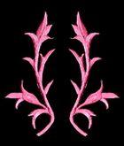1 Paar historische Applikationen AF43-6 Farbe: rosa